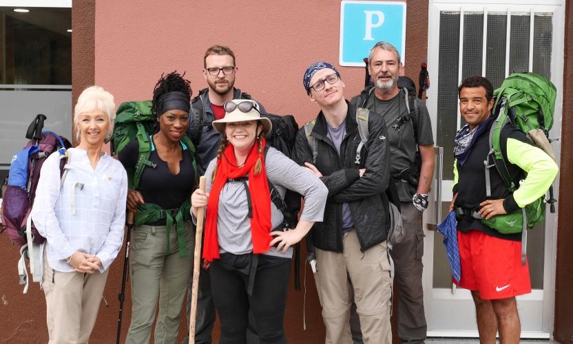 Debbie, Heather, JJ, Kate, Ed, Neil, Raphael on the Camino