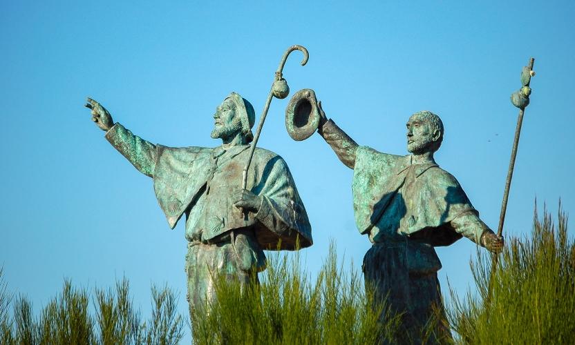 Pilgrim Sculpture by Acuña