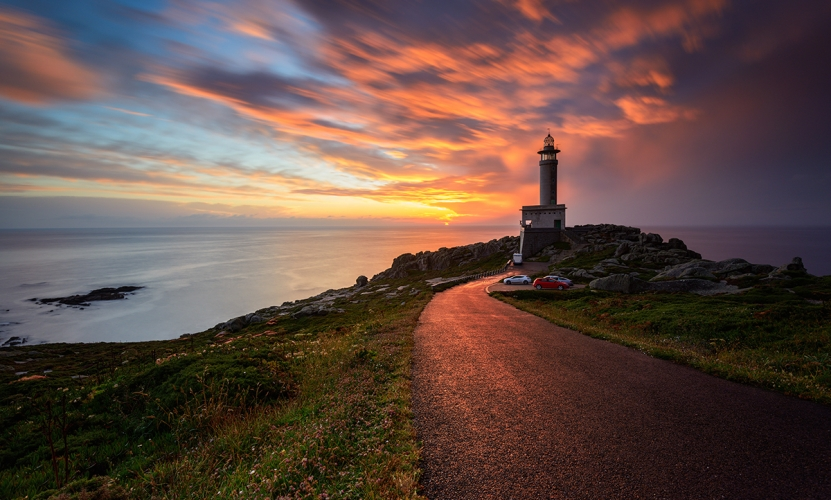 Finisterre Lighthouse at Sunset