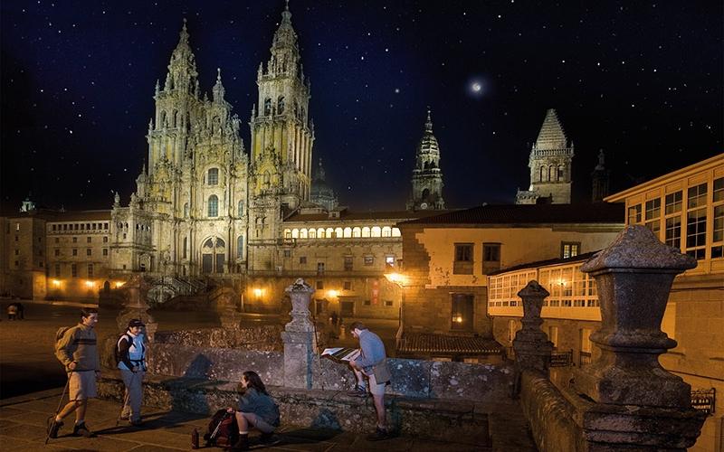 Santiago de Compostela Under the Stars