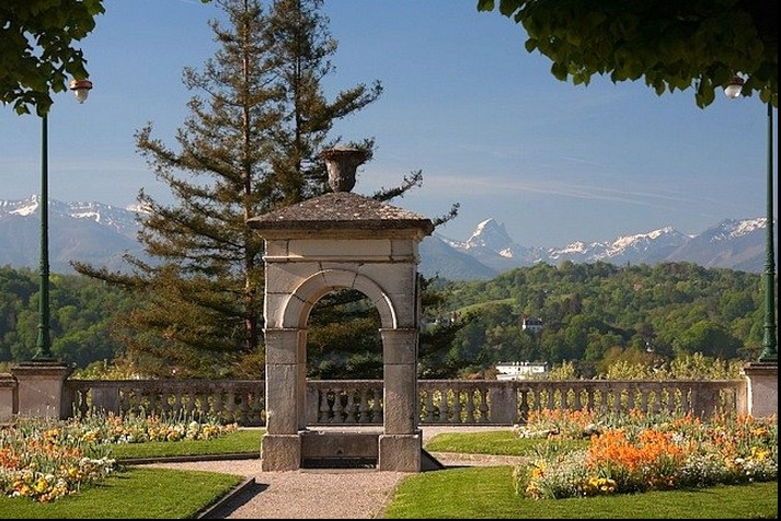 The Pyrenees seen from the Chateau in Pau