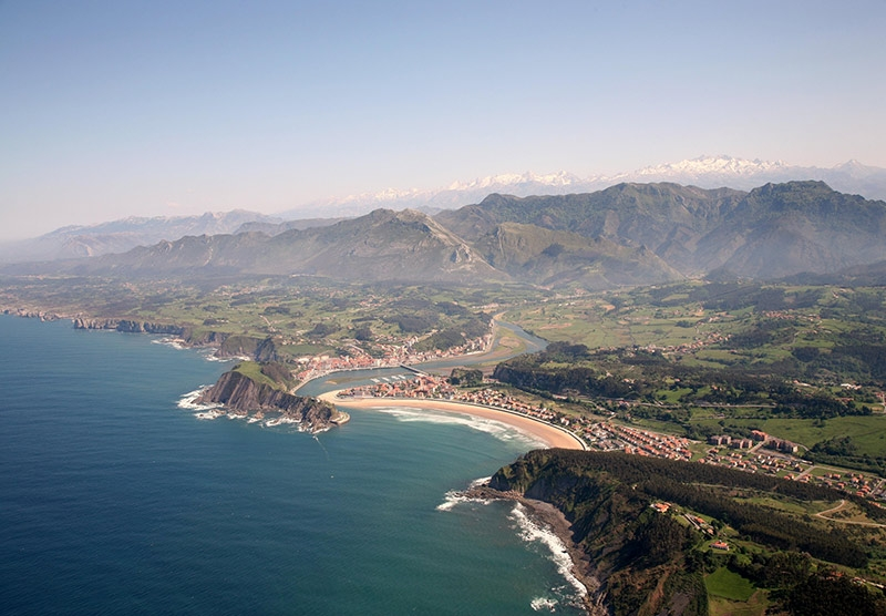 Ribadasella in Asturias sits on a golden curve of sand between Mountains & Sea