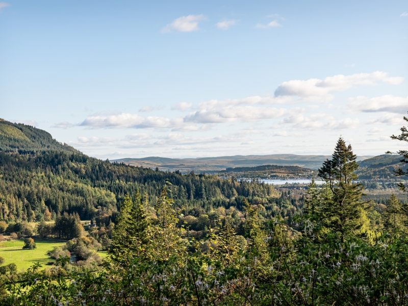 Holy Loch from Benmore, Cowal Peninsula