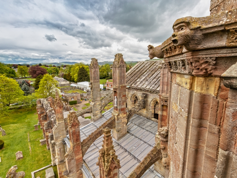 Melrose from the Abbey, Scottish Borders