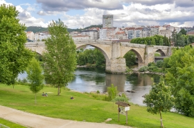 Roman Bridge at Ourense over the Mino River