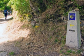 Camino Waymarks in Galicia