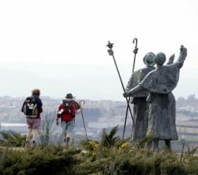 Monte do Gozo on the edge of Santiago de Compostela