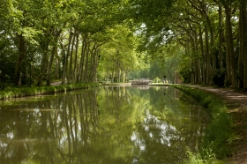 The Canal de Midi Towpath near Toulouse