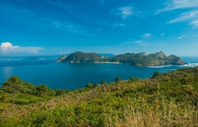 Cies Islands Across Baiona Bay